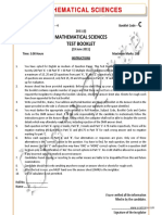 CSIR Mathematical Sciences Solved June 2011