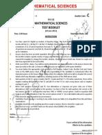 CSIR Mathematical Sciences Solved June 2011