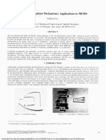 Design of Compliant Mechanisms Applications to MEMS