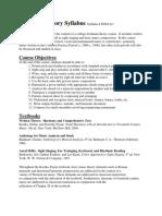 AP Music Theory Syllabus