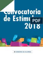 Cartilla estímulos ministerio de cultura Colombia (literatura)