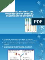 Efecto del potencial redox sobre el crecimiento microbiano