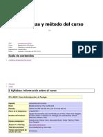 Naturaleza y Método Del Curso