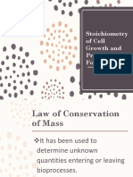 (Stoichiometry of Cell Growth and Product Formation)