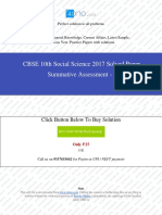 CBSE 10th Social Science SA1 2017 Unsolved