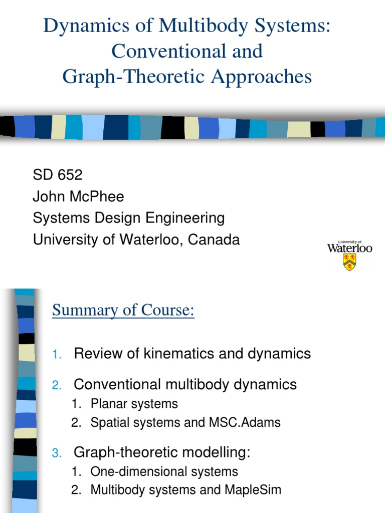 Intro Sd652 Kinematics Graph Theory