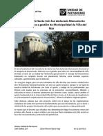 Nota Declaratoria Cementerio Santa Inés