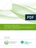 Looking for Green Jobs the Impact of Green Growth on Employment