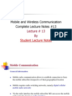 Mobile and Wireless Communication Complete Lecture Notes #13