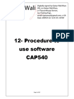 12-Procedure to Use Software Cap 540