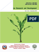 Journal of Maize Research and Development, Vol. 2, No.1 (2016)
