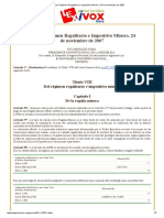 Bolivia_ Regimen Regalitario e Impositivo Minero, 24 de Noviembre de 2007