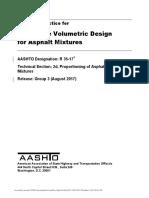 R35-17 Practica Estandar Diseño Volumetrico de Mezcla SUPERPAVE