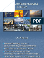 Alternative Renewable Energy Presentation