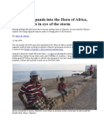 Gulf Crisis Expands Into the Horn of Africa