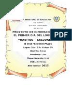 Proyecto Del Primer Dia Del Logro 2015