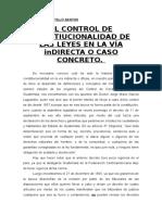 El Control de Constitucionalidad.