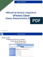 Métricas de Servicio y Soporte con eFactory Casos - Software CRM en la Nube