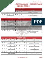 Cronograma - Residentado Médico Fase I