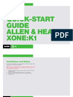 Allen & Heath Xone K1 Quickstart Guide