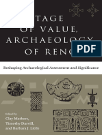 Heritage of Value, Archaeology of Renown