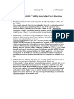 Reliability Validity Answers