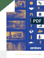 Ambev Relatório Sustentabilidade 2016