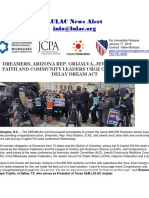 LULAC News Alert - Dreamers Arizona Rep. Grijalva Jewish and Latino Faith and Community Leaders Urge Congress not to Delay DREAM Act.pdf
