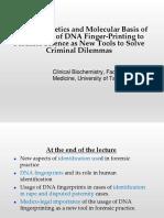 Forensic Genetics 2016-17