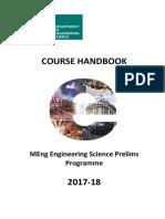 Course Handbook - Prelims 17-18