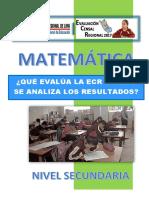 Modulo Que Evalua y Como Analiza Ecr Matemática Secundaria