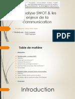 SWOT Et Enjeux de La Communication