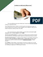 Vtc-Comment Obtenir un Credit Auto à 90€
