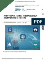 Plataforma de Sistemas IntegradosInova Segurança Pública Em Goiás – SSPAP