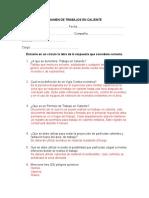 Examen - Trabajos en Caliente(Solucionario)