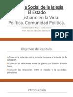 Cristiano y Política. Comunidad Política.