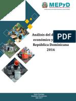 Analisis Del Desempeno Economico y Social 2016