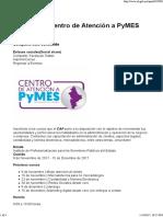Cursos Del Centro de Atención a PyMES