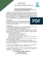 Primeiro Edital Nº 28 FAALC de Seleção - Monitoria bolsista 2017 2