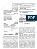 Autorizan Transferencia de Partidas de Presupuestos Año Fiscal 2015 Incrmento Jornada Laboral Secundaria