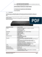 CONECTIVIDAD - ESPECIFICACIONES TECNICAS
