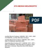 Jual Bata Merah Press Surabaya, 0813 – 5870 – 6022 (TLP/SMS/WA), Bata Merah Press MRH