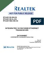 Rtl8211e(g) Vb(Vl) Cg Datasheet 1.6