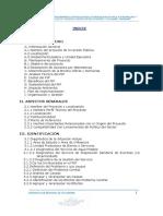 Perfil Agua y Saneamiento Collicate y Caserios