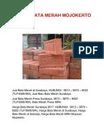 Jual Bata Merah Press Pasuruan, 0813 – 5870 – 6022 (TLP/SMS/WA)
