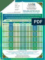 Saturday Timetable