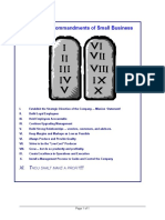 Consulting-Ten Commandments of Small Business [Lesson].doc