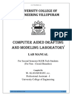 GE6261 Computer Aided Drafting Modelling Lab