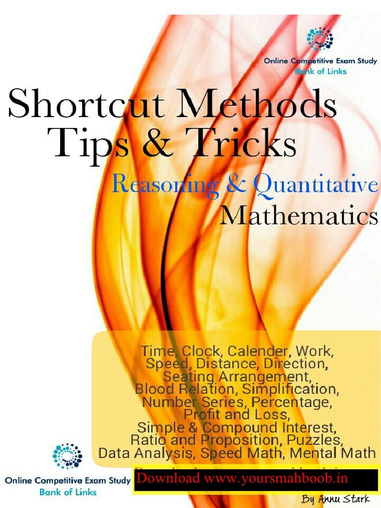 Reasoning_quant Short Tricks | Percentage | Fraction (Mathematics)