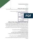 Fiber Optics Mechanical Splicing